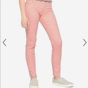 Justice pull on jean leggings pink new 8